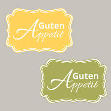 guten appetit sprüche guten appetit küche dekoratives etikett stin up stempeln