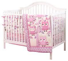 owl 3 crib bedding set traditional baby