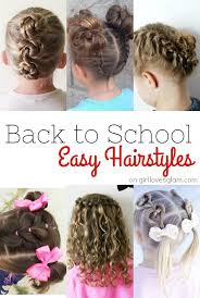 easy hairstyles for school with pictures back to school hairstyles girl loves glam