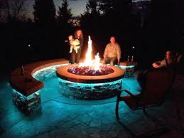 Fire Pit With Lava Rocks - awesome outdoor fire pit finally completed lava rock natural gas