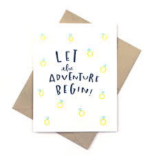 wedding card greetings engagement card wedding card let the adventure begin diamonds