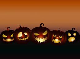 evil pumpkins halloween ppt backgrounds black cartoon games