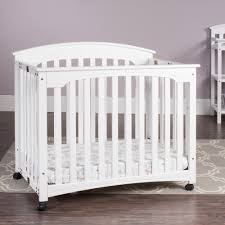 Mini Crib White Mini Cribs Contemporary Bedroom Furniture Wood Solid