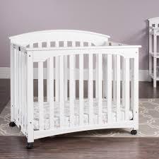 Mini Crib White Mini Cribs Contemporary Bedroom Furniture Wood Solid