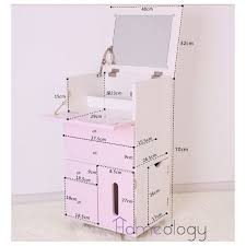 make up dressers pink white mobile movable makeup organizer dresser cosmetic