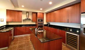 Cherry Wood Kitchen Cabinets With Black Granite Enchanting Cherry Kitchen Cabinets With Granite Countertops