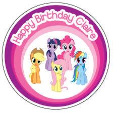 my pony cupcake toppers my pony cake topper