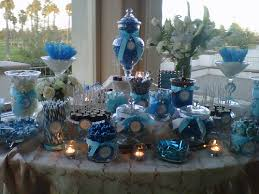 Candy Buffet Apothecary Jars by Blue And White Candy Buffet Using Various Size Apothecary Jars