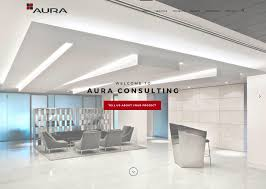 new project management company website for aura consulting