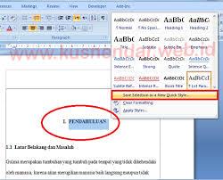 cara membuat garis pada daftar isi makalah tutorial membuat daftar isi otomatis di word 100 berhasil kusnendar