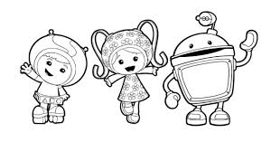 team umizoomi milli geo bot colouring pages preschoolers