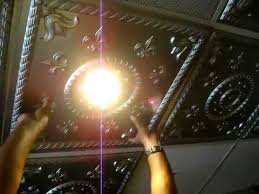Ceiling Tile Light Fixtures How To Intall Ceiling Tile Around Light Fixture Grid