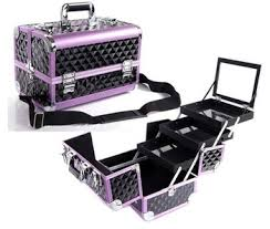 Vanity Box Makeup Artistry 2015 New Aluminum Cosmetic Train Case Beauty Carrying Case