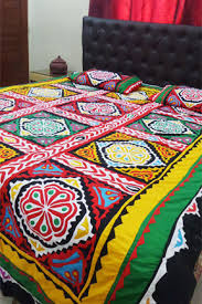 bed sheet quality aman jee sindhi hand made aplic ralli bed sheet superb quality
