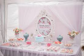 backdrop for baby shower table shabby chic baby shower oh it s perfect