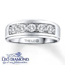 leo diamond ring jared leo diamond men s band 1 ct tw cut 14k white gold