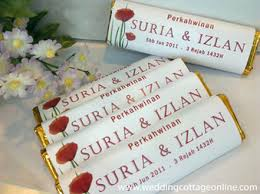 wedding gift malaysia personalized chocolate bar unique wedding favors door gifts