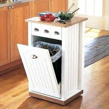 creative kitchen cabinet ideas lovely trash can cabinet free standing kitchen on gregorsnell