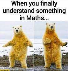 Polar Bear Meme - when you finally understand something in maths dancing polar bear