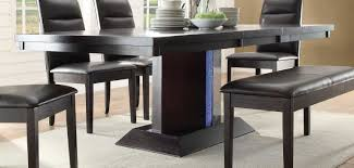 homelegance pulse dining table with led light espresso 2579 78