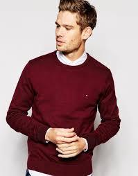 hilfiger sweater mens lyst hilfiger sweater in marl crew neck in purple for