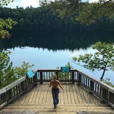 Pink Lake Hiking Pink Lake Trail In Quebec Inspire Sophia