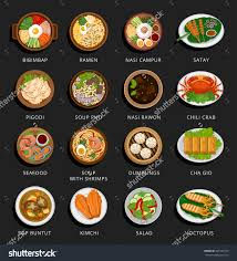 illustration cuisine big set of food and