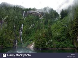 Alaska waterfalls images Waterfalls in rudyerd bay misty fjords national monument alaska jpg