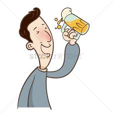 cartoon beer cartoon guy is drinking beer vector image 1958653 stockunlimited