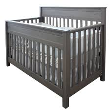 Gray Convertible Cribs by Convertible Crib Terrace Storm Cribs