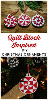 diy ornaments with quilt block patterns knick of time