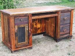 Large Wooden Desk Decorating Your Home Office 4 Brilliant Idea Reclaimed Wood Desk