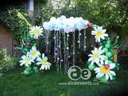 balloon decorations garden theme open area decorations hanging