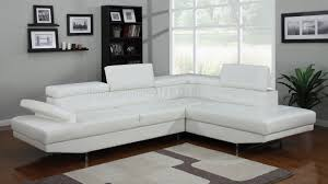 4003 sectional sofa in white bonded leather by elegant home