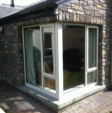 recently completed house u2013 cream upvc with georgian sunburst