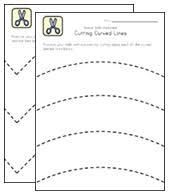 scissor skills worksheets for kids all kids network