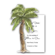 swaying palm tree save the date cards paperstyle