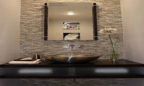 Small Powder Room Ideas by White Solid Slab Marble Granite Countertop Powder Room Designs