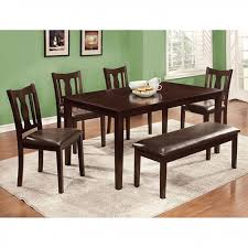 Espresso Dining Room Furniture Northvale I 6pcs Transitional Espresso Dining Table Set