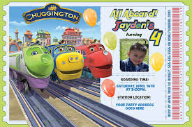 chuggington train personalized birthday invitation printable