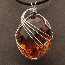 pendant wire necklace images Wire wrapped golden citrine pendant by jandsgems jpg