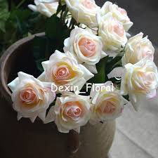 silk bridal bouquets light blush real touch silk roses diy silk bridal bouquets