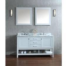 Dual Bathroom Vanity by Adelina 60 Inch Antique Double Sink Bathroom Vanity Glennville