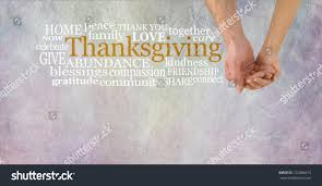celebrate thanksgiving together cupped stock photo