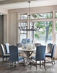 Inspired Still By Beth Webb Wide Plank Bungalow And Chandeliers - Coastal dining room table