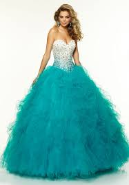 turquoise wedding dresses strapless beaded top ruffles skirt turquoise wedding dresses