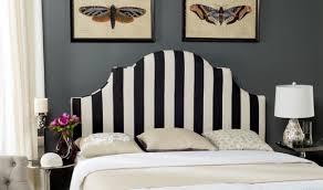 hallmar black u0026 white stripe headboard headboards furniture by
