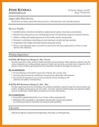 waiter resume sample waitress resume example resume sample waiter waiter functional