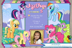 custom birthday invitations pony custom birthday invitation with or without photo