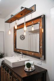 Bathroom Vanity Lighting Design Ideas Lighting Rectangle Bath Mirror Design Ideas With Rustic Bathroom